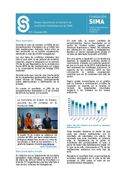 Carátula informe mensual 5 octubre 2014